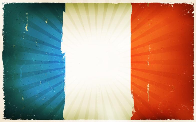 Vintage French Flag Poster Background vettore