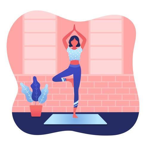 Vettore di classe di yoga