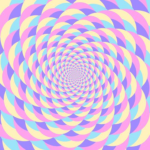 Sfondo di illusione movimento circolare olografico colorato whirlpool vettore