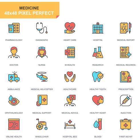Healthcare and Medicine Icon Set vettore