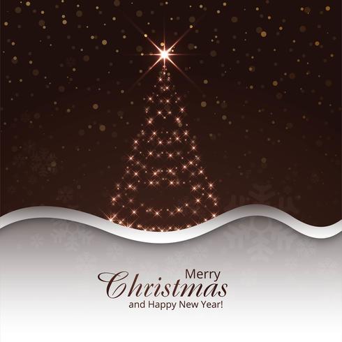 Fondo di celebrazione dell'albero di Natale allegro vettore