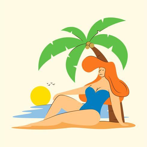 attività in spiaggia vettore