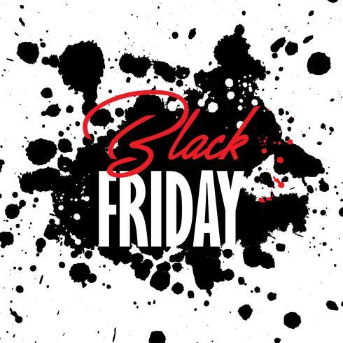 Priorità bassa di vendita del grunge di Black Friday vettore