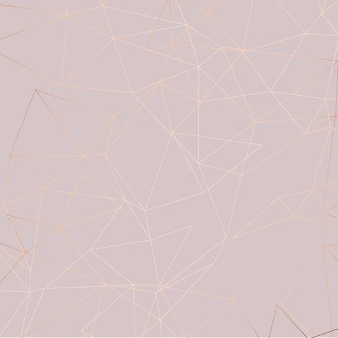 Sfondo oro rosa bassa poli vettore