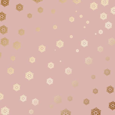 Sfondo di fiocco di neve d'oro vettore