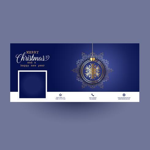 Copertina decorativa per social media con design natalizio vettore