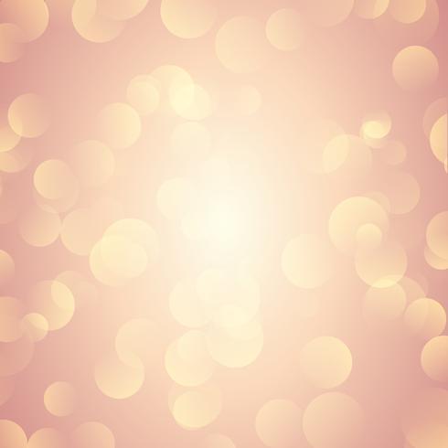 Il bokeh dell'oro di Rosa illumina la priorità bassa vettore