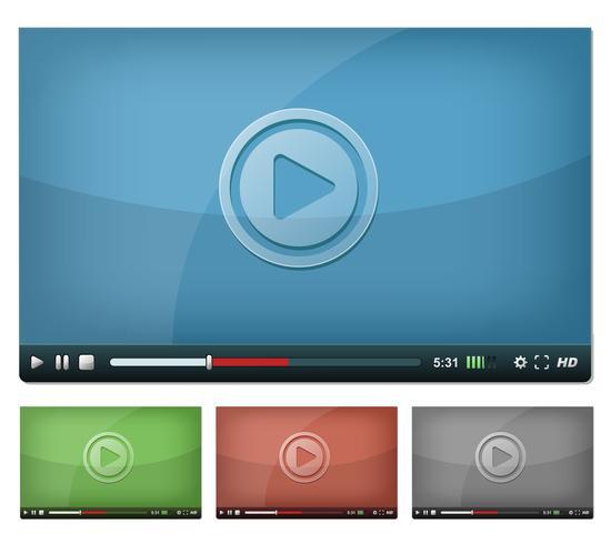 Lettore video per Web e Tablet PC vettore