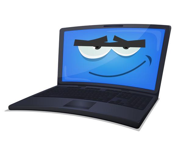 Carattere del computer portatile vettore