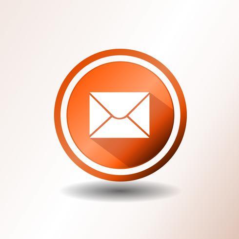 Icona di posta elettronica in design piatto vettore