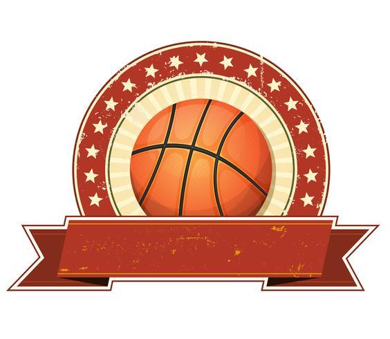 Bandiera di Grunge e dell'annata di pallacanestro vettore