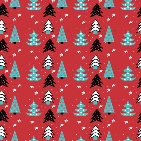 Pattern di alberi di Natale vettore