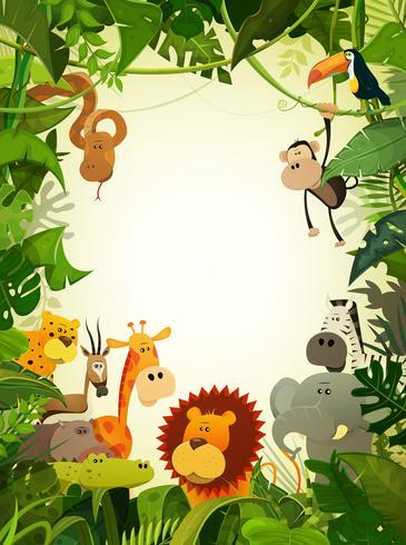 Wallpaper di animali selvatici vettore