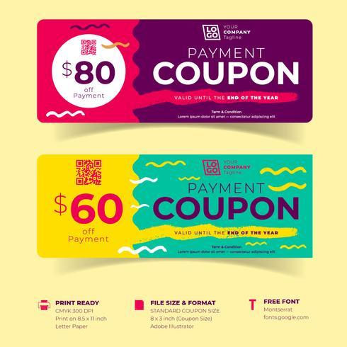 Modelli di coupon certificati buoni regalo vettore