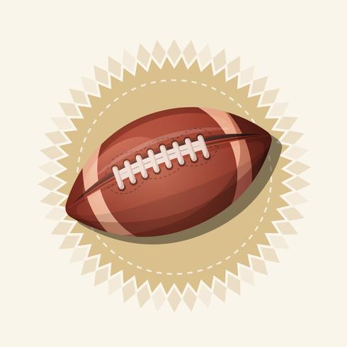 Retro bandiera di football americano vettore