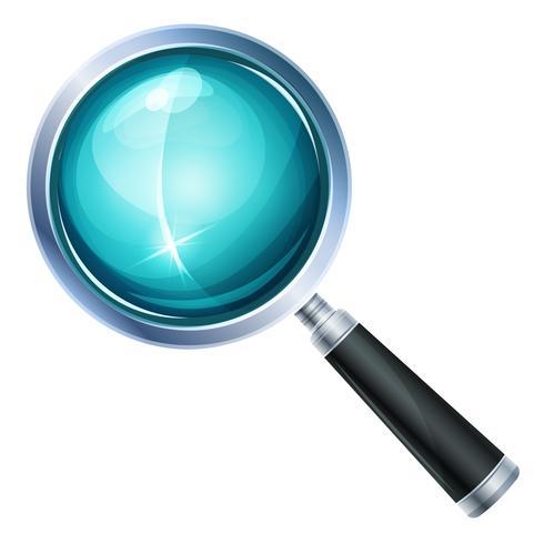 Icona di lente di ingrandimento isolata vettore