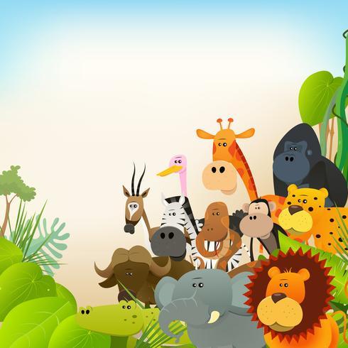 Sfondo di animali della fauna selvatica vettore