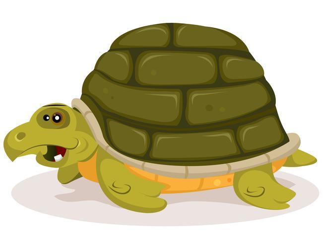 personaggio simpatico cartone animato di tartaruga vettore