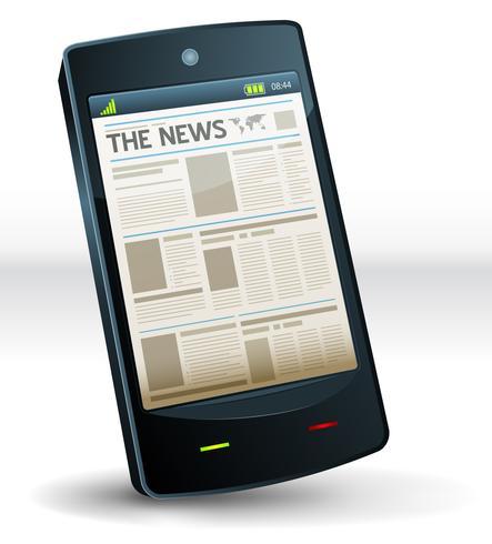 Giornale all'interno Pocket telefono cellulare vettore