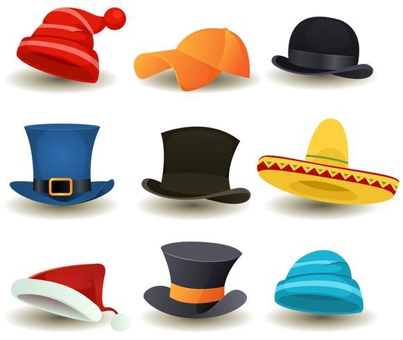 Cappellini, cappelli e altri accessori per la testa vettore