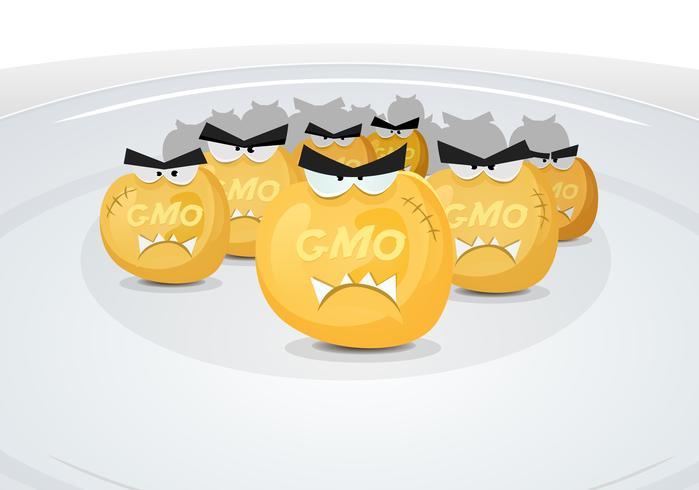 Cereali di mais Gmo nel mio piatto vettore