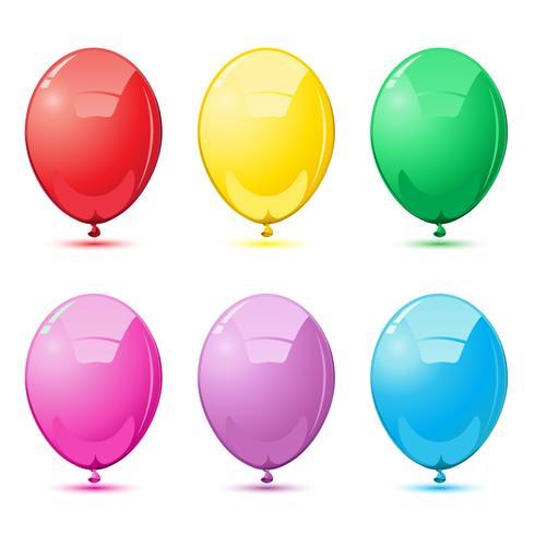 Palloncini colorati vettore