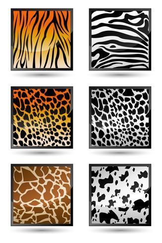 Texture della pelle animale vettore