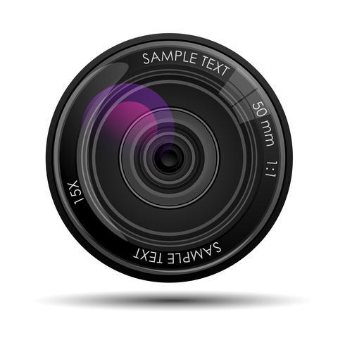 lente della fotocamera vettore