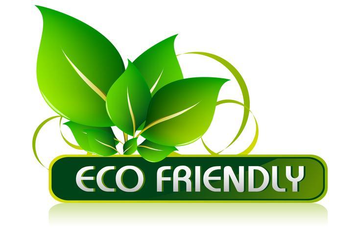 Icona eco-compatibile vettore