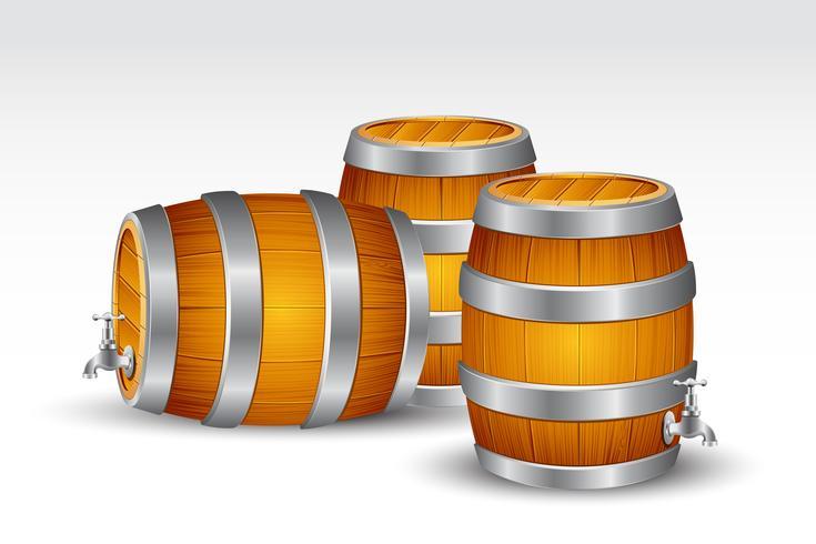 Barile di birra vettore