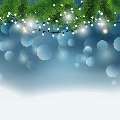 Sfondo di luci di Natale vettore