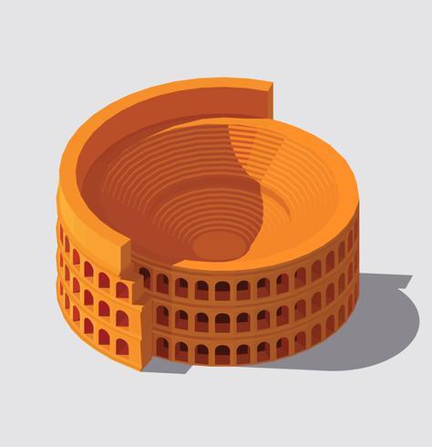 Illustrazione di costruzione di Roma antica. vettore