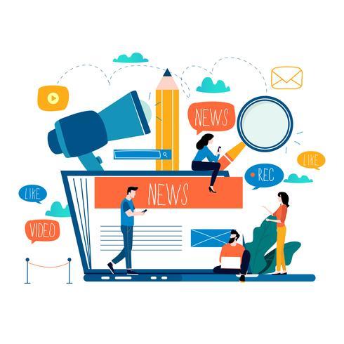 Blogging, educazione, scrittura creativa vettore