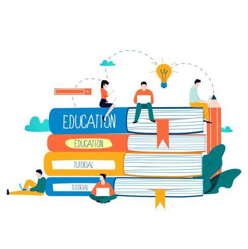 Istruzione, corsi di formazione online vettore