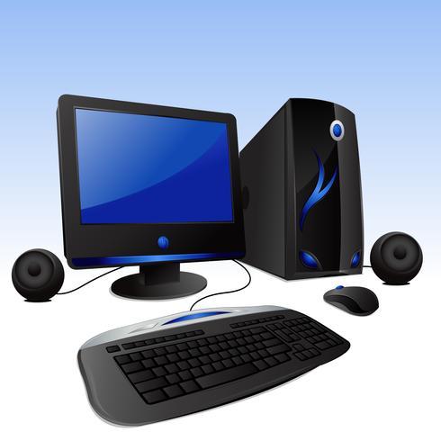 Computer desktop vettore
