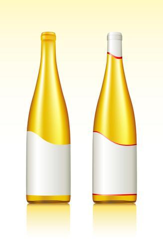 Bottiglia di vino vettore