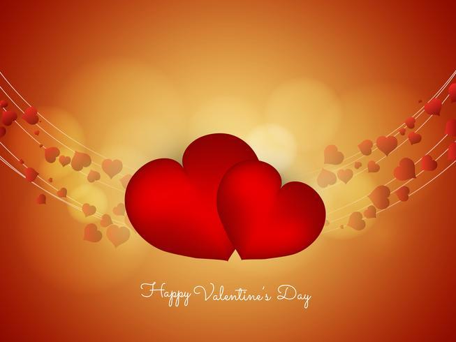 Priorità bassa decorativa di San Valentino felice astratto vettore