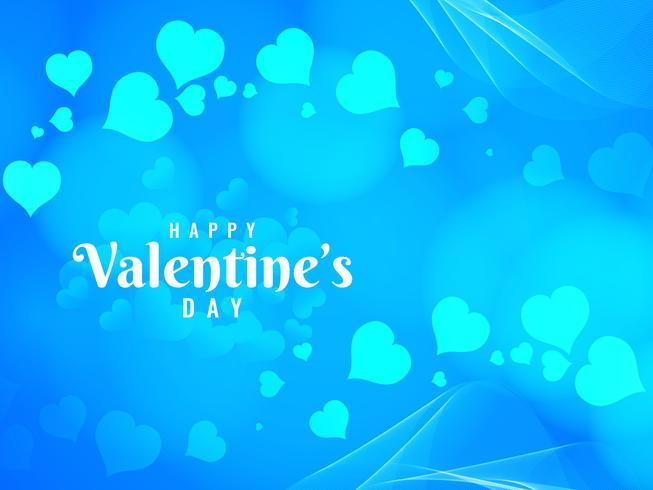 Fondo blu luminoso di San Valentino felice astratto vettore