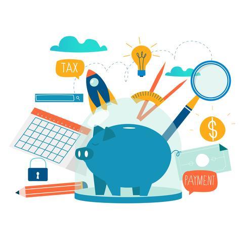 Affari e servizi finanziari vettore