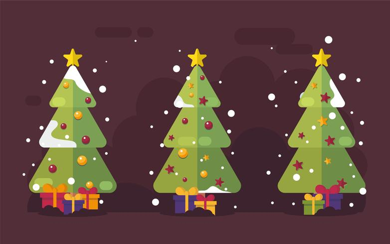 Mid Century Christmas tree Vettore