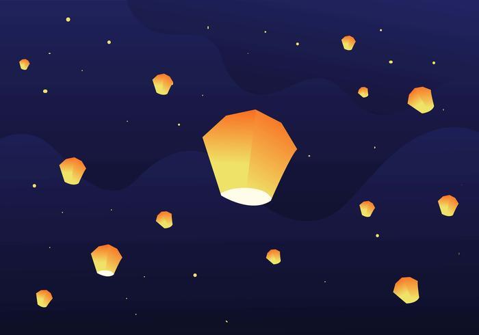 lanterna del cielo di Taiwan vettore