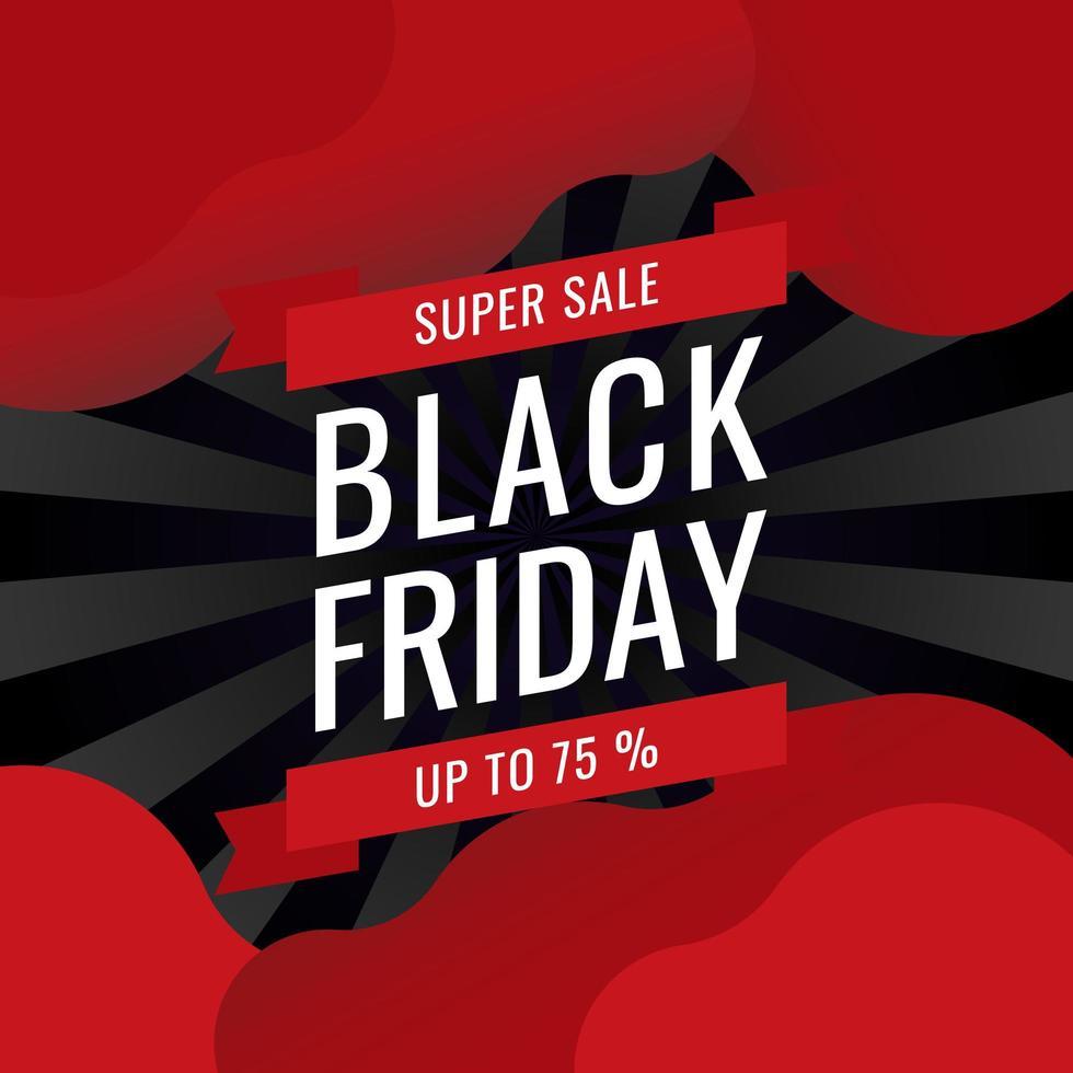 Black Friday Banner Sale Inscription Best Design Template vettore