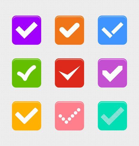 Confermi l'insieme di simboli, vettore grafico dell'illustrazione