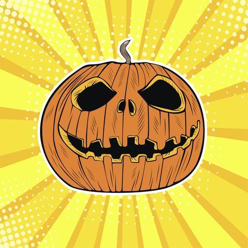 Testa di zucca di Halloween Jack vettore