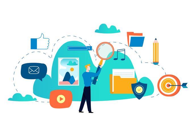 Servizi e tecnologia di cloud computing vettore