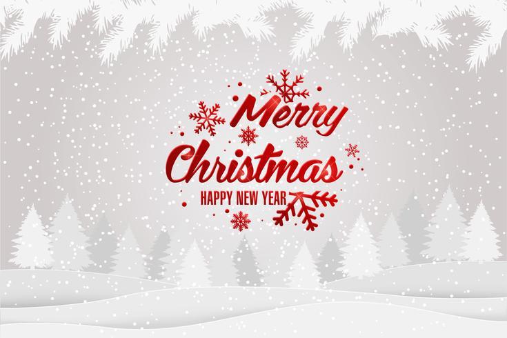 Natale e anno nuovo sfondo tipografico vettore