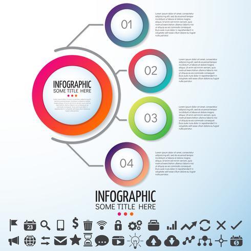 infografica modello di progettazione vettore