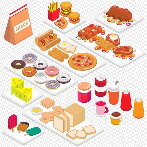 illustrazione del concetto di cibo spazzatura grafica informazioni vettore