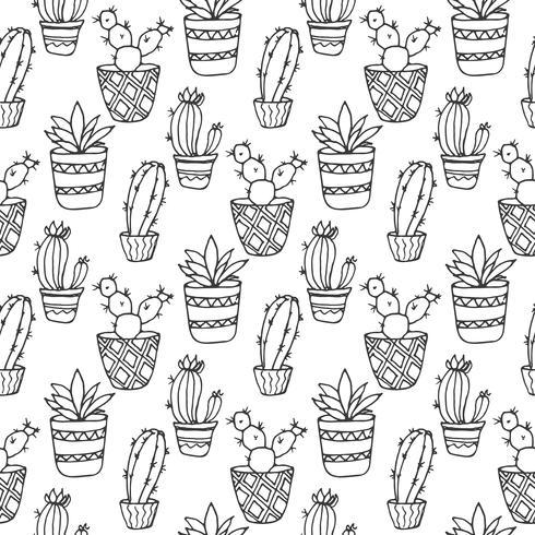 Illustrazione senza cuciture del cactus vettore