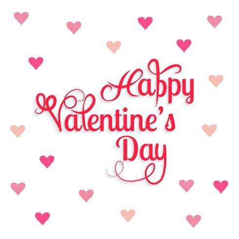 La bella carta di San Valentino sfondo con cuori di design vettore